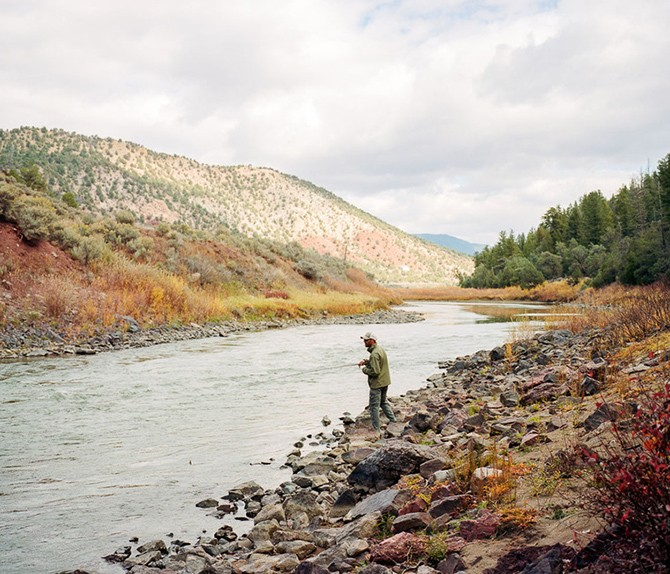 Andy Kinghorn fly fishing on the Colorado River