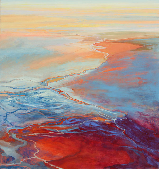 "21.+Flood,+oil+on+canvas,+59""+X+56"",+2009"
